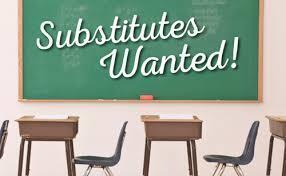 Now Hiring Substitutes