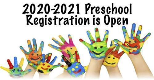 Preschool Registration Now Open for the 2020-2021 School Year