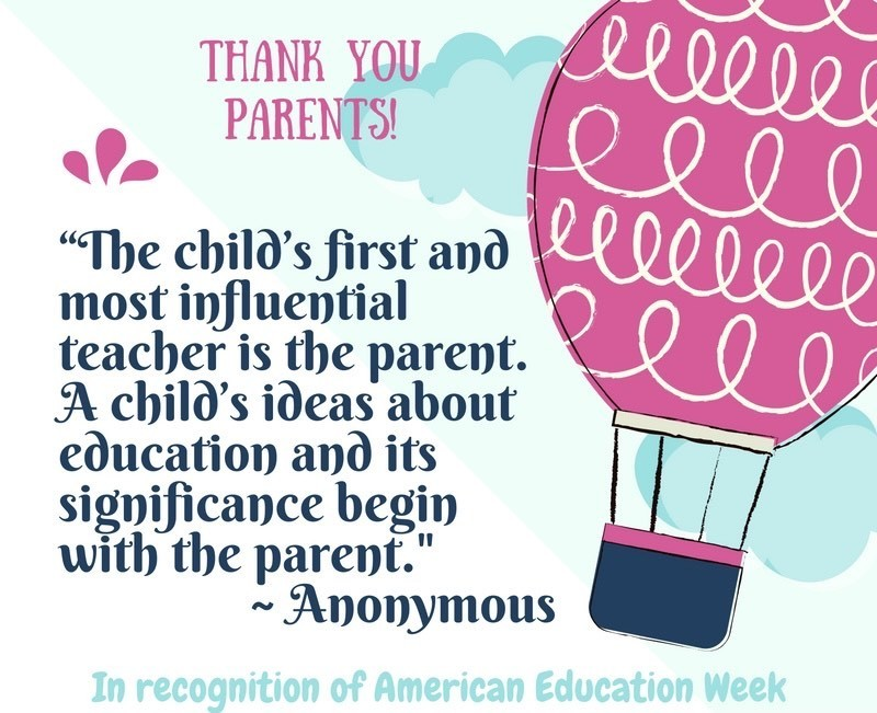 American Education Week - Thank you Parents!
