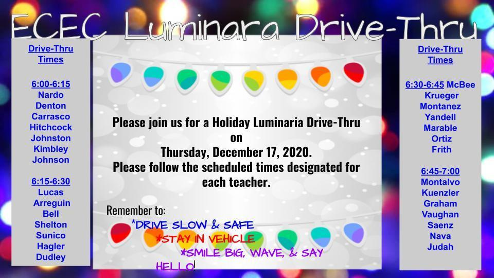 ECEC Luminara Drive-Thru Event