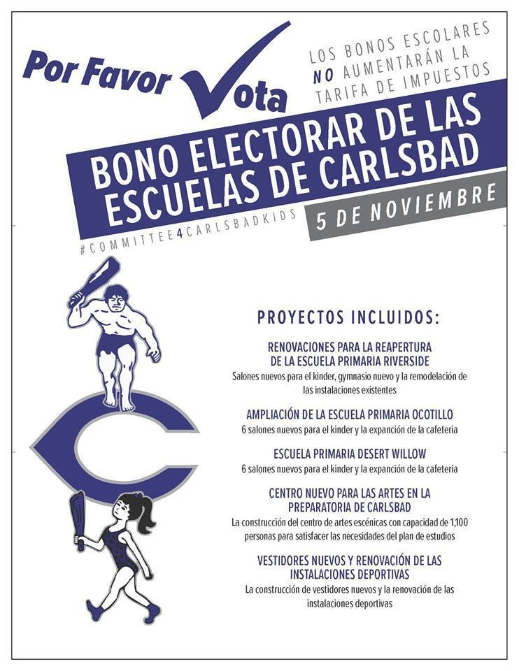 Flyer for Bond Election (Spanish)