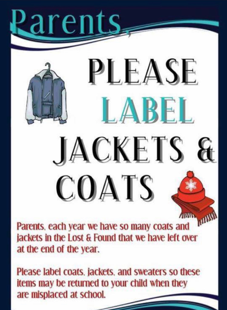 Please label jackets and coats